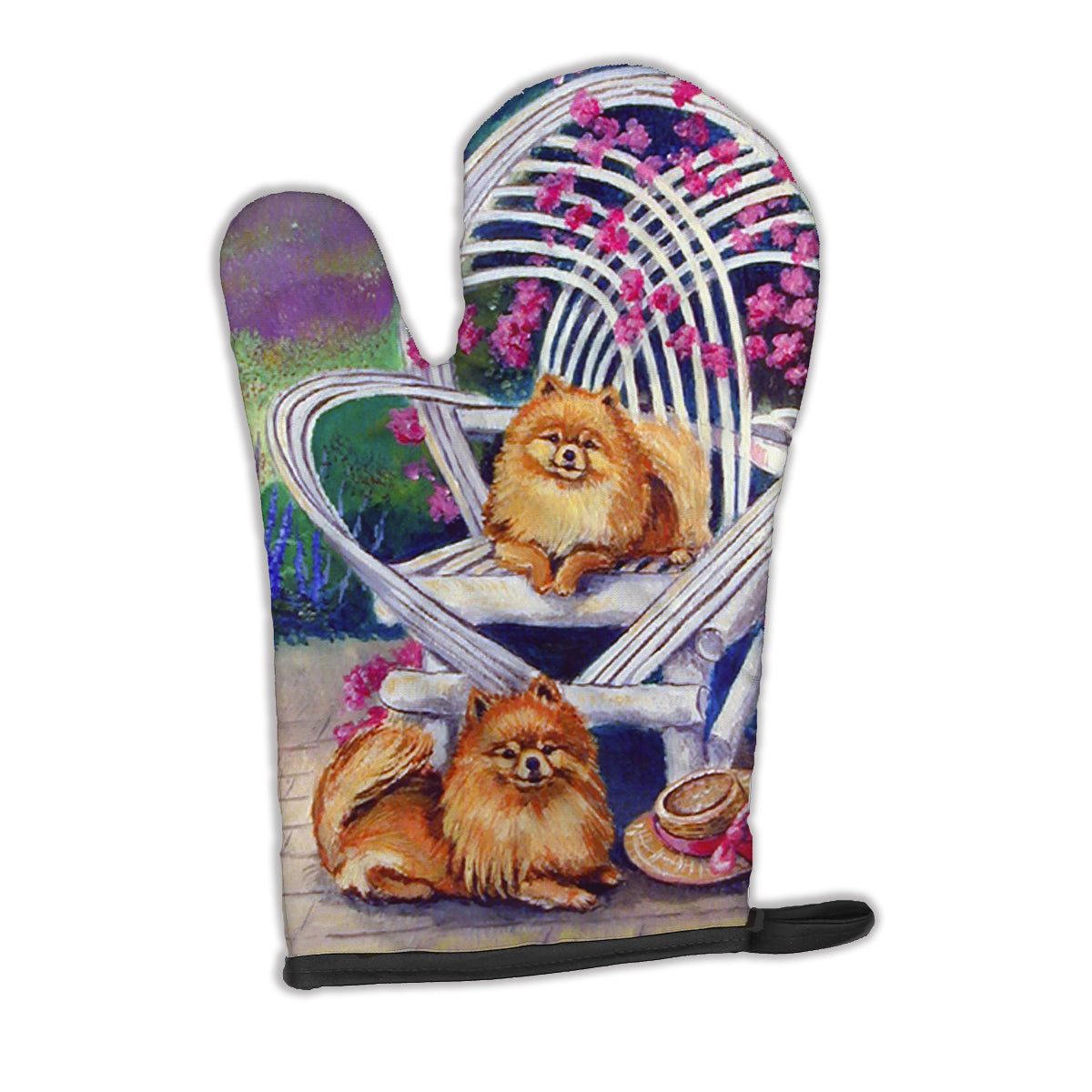 Red Pomeranians Oven Mitt 7176OVMT by Caroline's Treasures