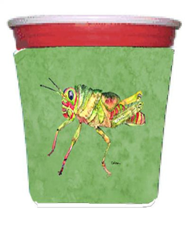 Buy this Grasshopper on Avacado Red Solo Cup Beverage Insulator Hugger