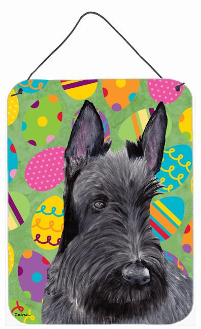 Scottish Terrier Easter Eggtravaganza Wall or Door Hanging Prints by Caroline's Treasures