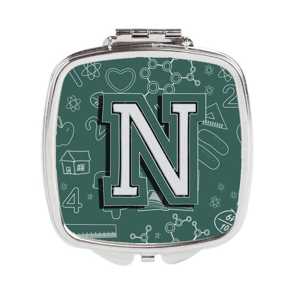 Letter N Back to School Initial Compact Mirror CJ2010-NSCM by Caroline's Treasures