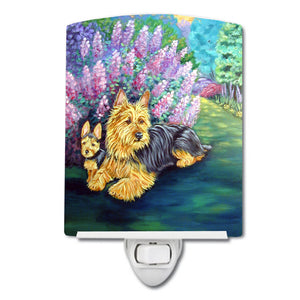 Buy this Australian Terrier and Puppy Ceramic Night Light 7209CNL