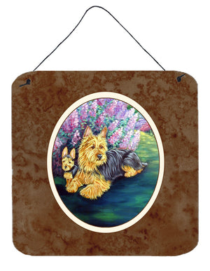 Australian Terrier and Puppy Wall or Door Hanging Prints 7209DS66 - the-store.com