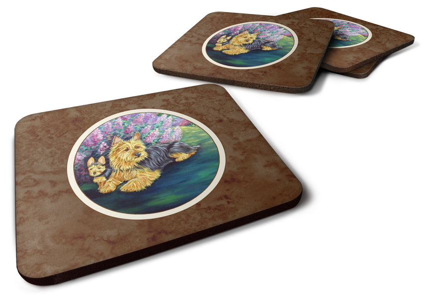 Buy this Australian Terrier and Puppy Foam Coaster Set of 4 7209FC