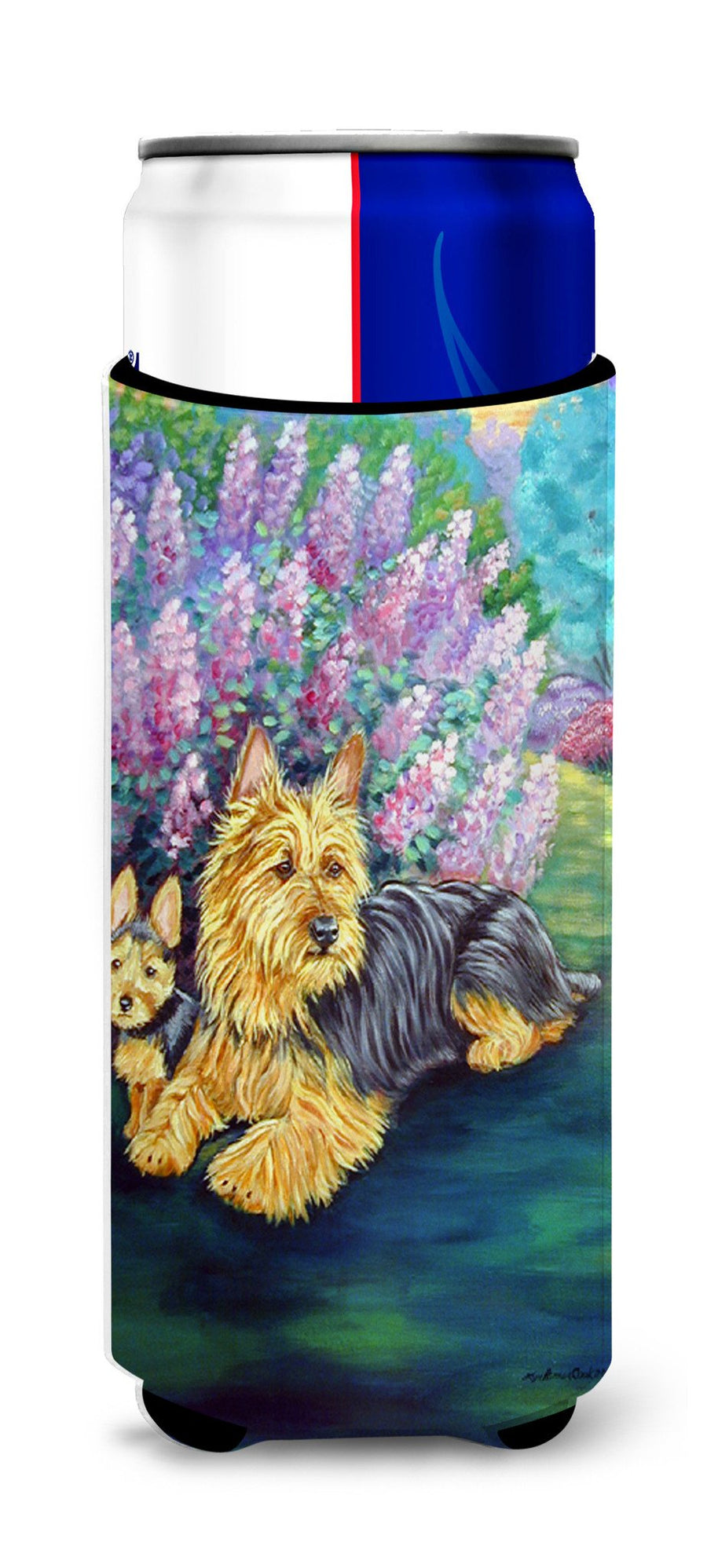 Australian Terrier and Puppy Ultra Beverage Insulators for slim cans 7209MUK - the-store.com