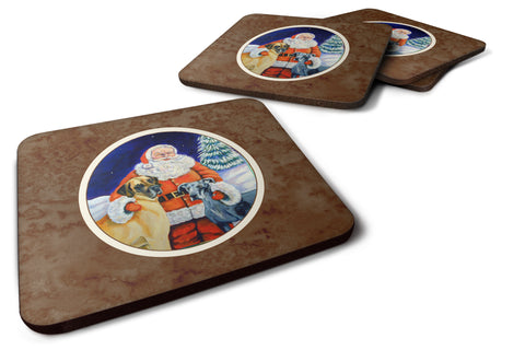 Buy this Santa Claus with Great Dane Foam Coaster Set of 4 7232FC