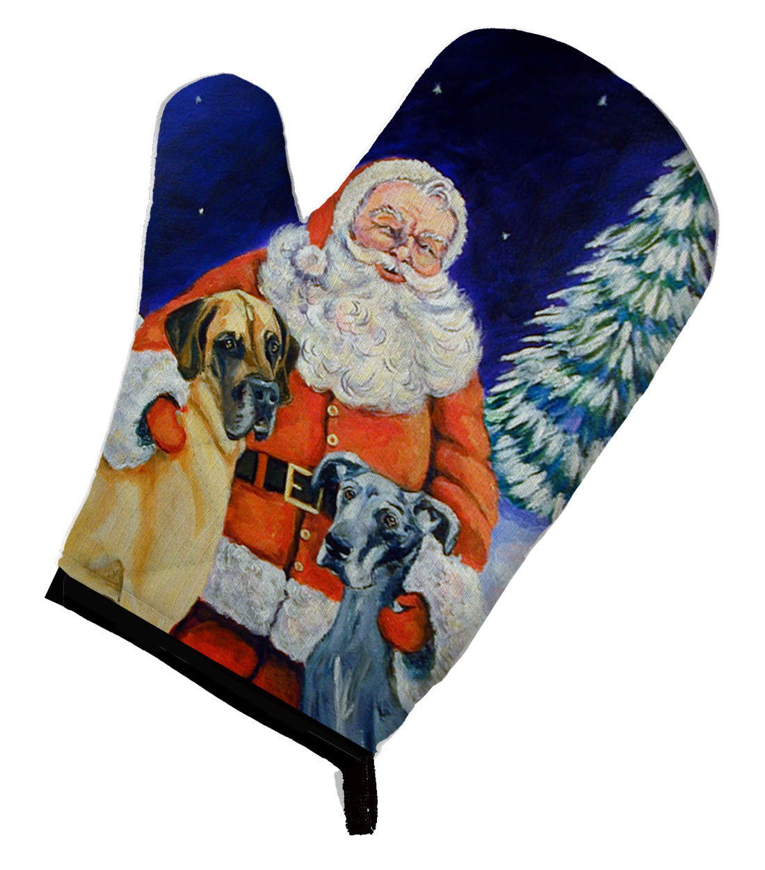 Santa Claus with Great Dane Oven Mitt 7232OVMT by Caroline's Treasures