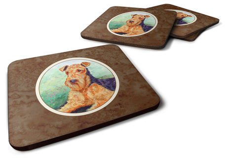 Buy this Airedale Terrier Foam Coaster Set of 4 7239FC