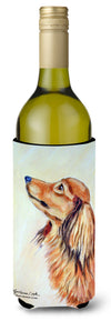 Buy this Long Haired Red Dachshund Wine Bottle Beverage Insulator Beverage Insulator Hugger