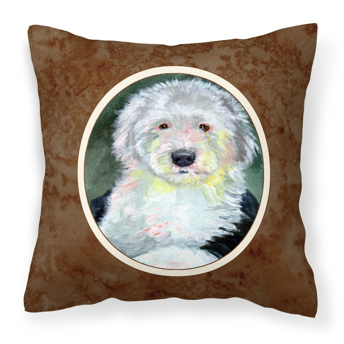 Old English Sheepdog Fabric Decorative Pillow 7252PW1414 by Caroline's Treasures