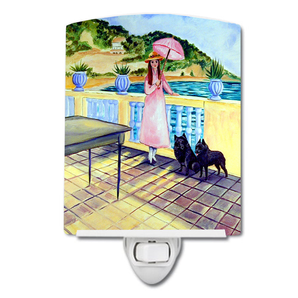Buy this Lady with her Schipperke Ceramic Night Light 7267CNL