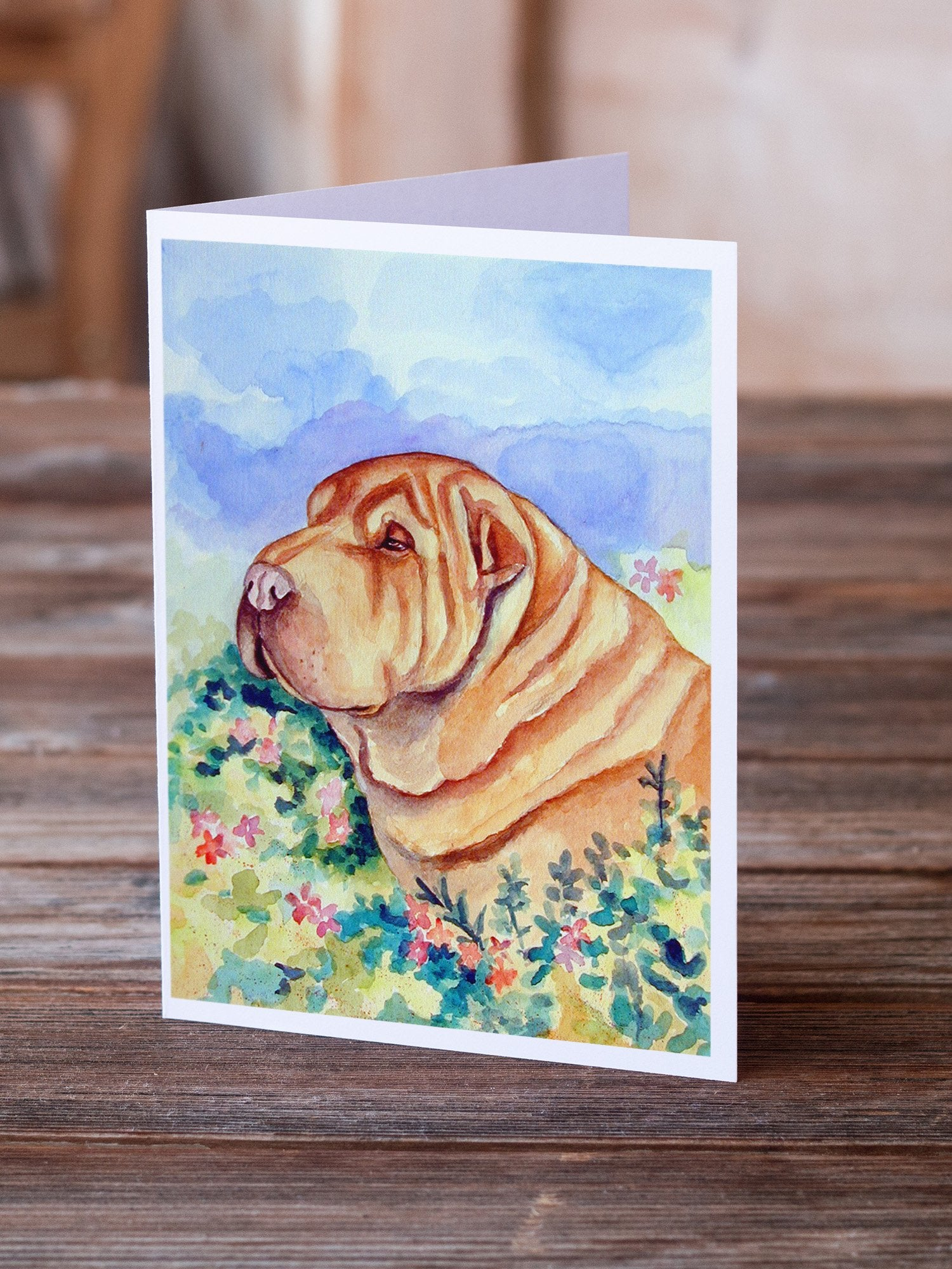 Buy this Shar Pei  Greeting Cards and Envelopes Pack of 8