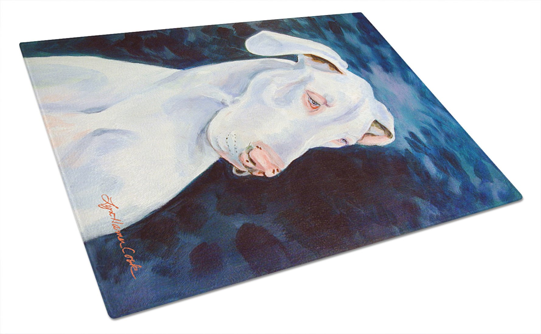 Great Dane Glass Cutting Board Large by Caroline's Treasures