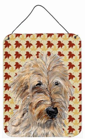 Buy this Golden Doodle 2 Fall Leaves Wall or Door Hanging Prints SC9691DS1216