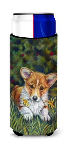 Buy this Corgi Pup and Daffodils Ultra Beverage Insulators for slim cans 7300MUK