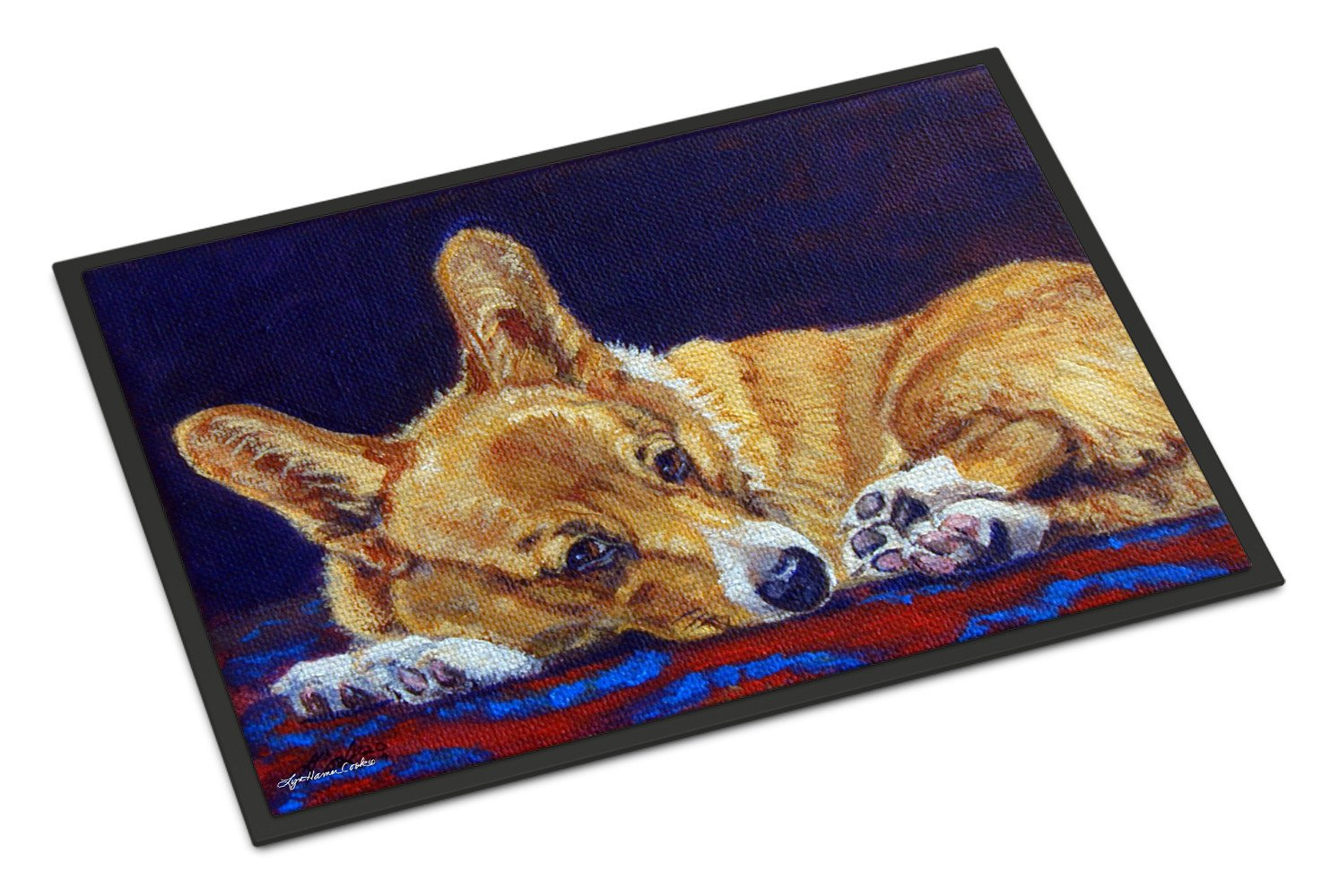 Corgi Blue Lonesome Indoor or Outdoor Mat 18x27 7320MAT - the-store.com