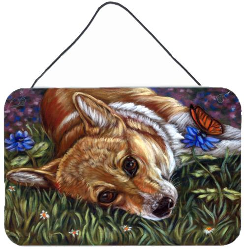 Buy this Corgi Pastel Butterfly Wall or Door Hanging Prints 7325DS812