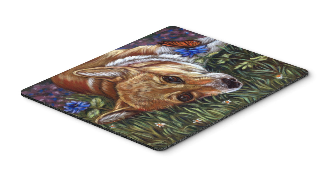 Corgi Pastel Butterfly Mouse Pad, Hot Pad or Trivet 7325MP - the-store.com