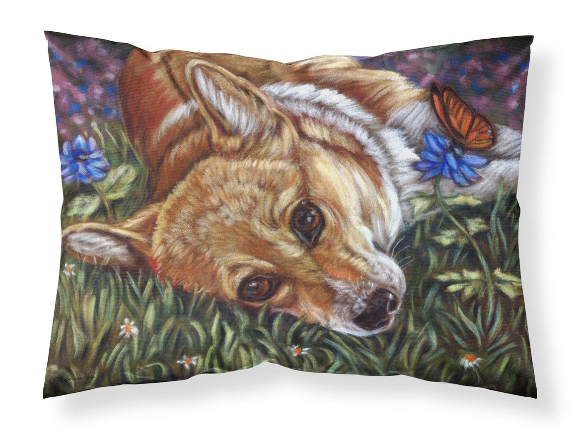 Buy this Corgi Pastel Butterfly Fabric Standard Pillowcase 7325PILLOWCASE