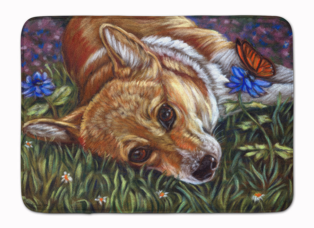 Buy this Corgi Pastel Butterfly Machine Washable Memory Foam Mat 7325RUG