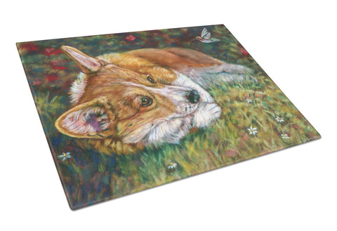 Buy this Corgi Pastel Hummingbird Glass Cutting Board Large 7326LCB