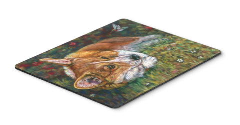 Buy this Corgi Pastel Hummingbird Mouse Pad, Hot Pad or Trivet 7326MP