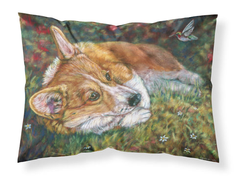Buy this Corgi Pastel Hummingbird Fabric Standard Pillowcase 7326PILLOWCASE