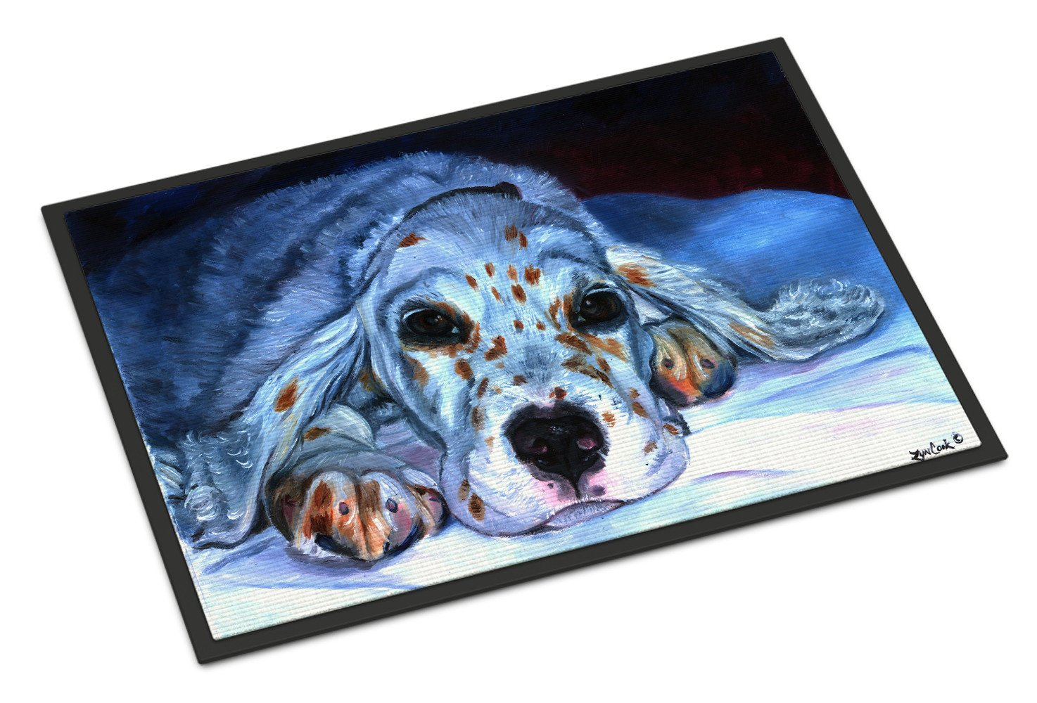 English Setter Pup Indoor or Outdoor Mat 18x27 7330MAT - the-store.com