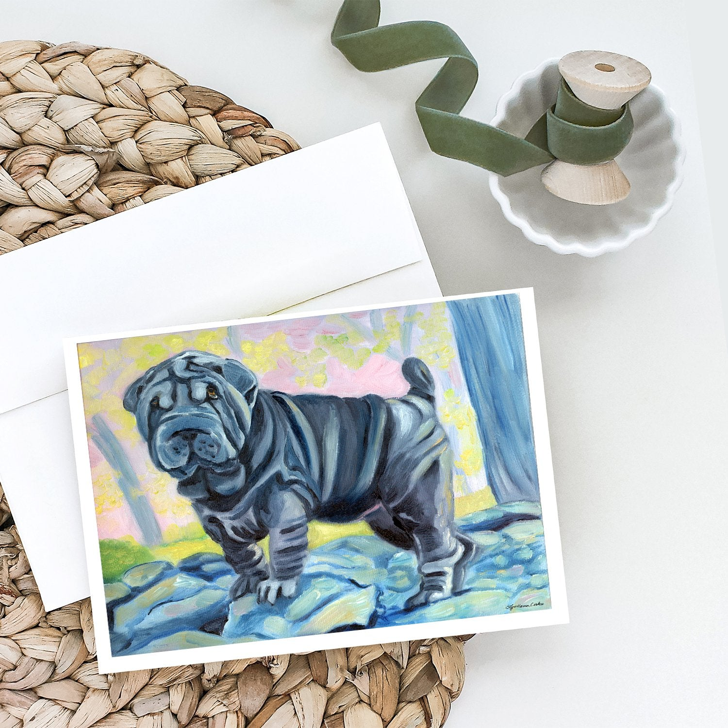 Buy this Blue Shar Pei Greeting Cards and Envelopes Pack of 8