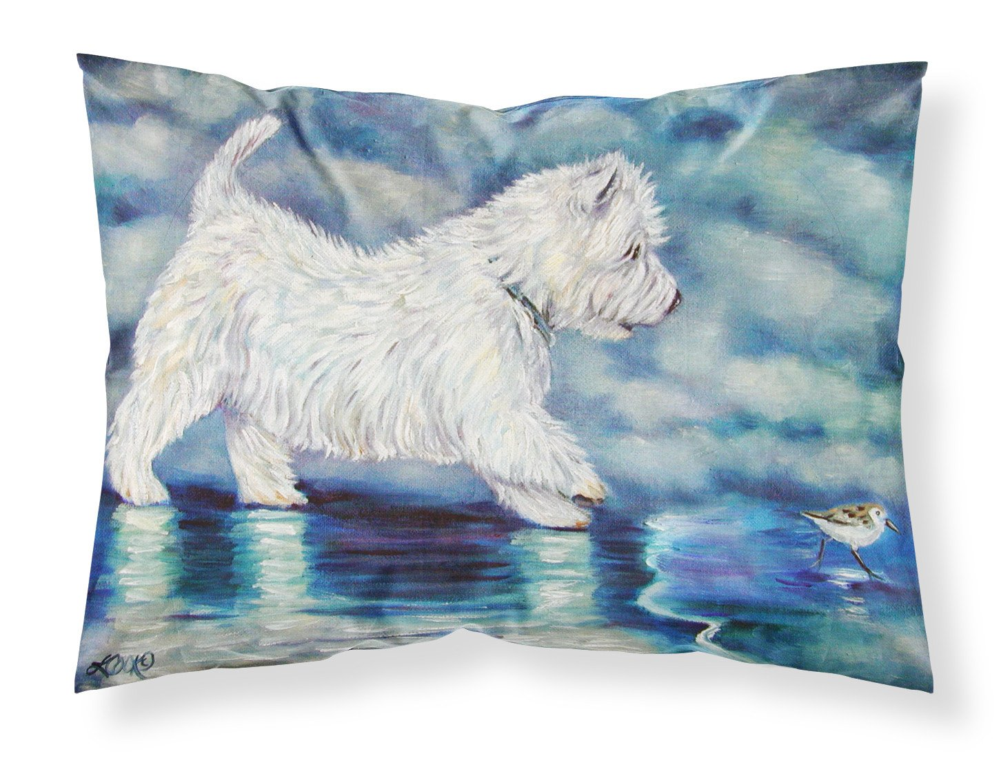 Misty Westie Fabric Standard Pillowcase 7334PILLOWCASE by Caroline's Treasures
