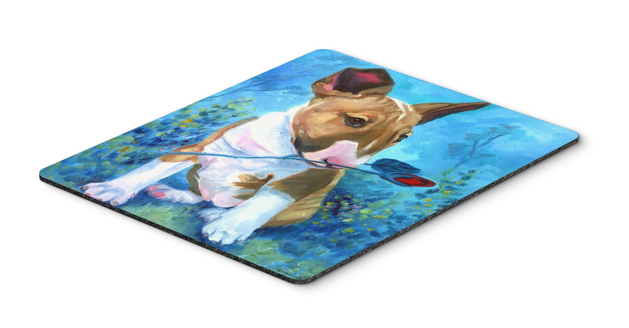 Buy this Bull Terrier Rose for Mom Mouse Pad, Hot Pad or Trivet 7339MP