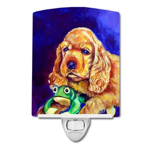 Buy this Cocker Spaniel with Frog Ceramic Night Light 7342CNL