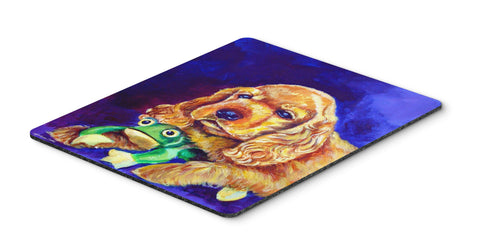 Buy this Cocker Spaniel with Frog Mouse Pad, Hot Pad or Trivet 7342MP
