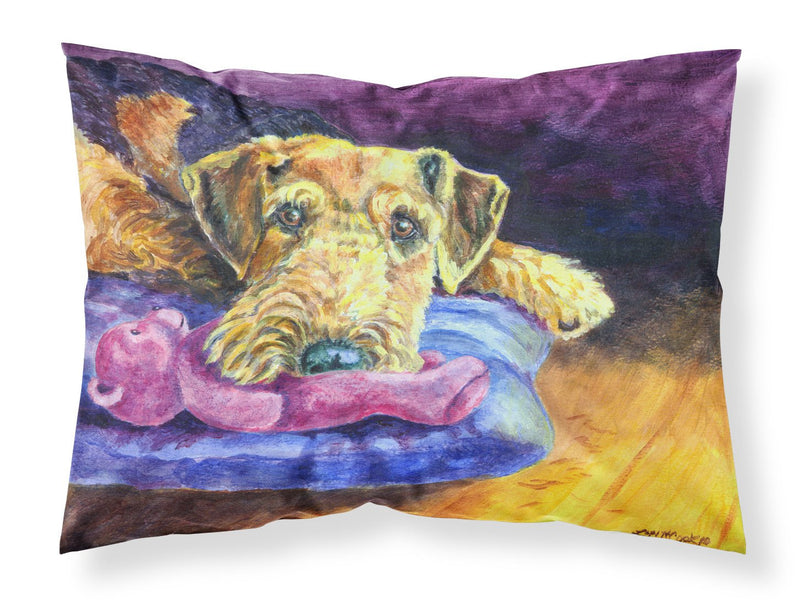 Buy this Airedale Terrier Teddy Bear Fabric Standard Pillowcase 7345PILLOWCASE