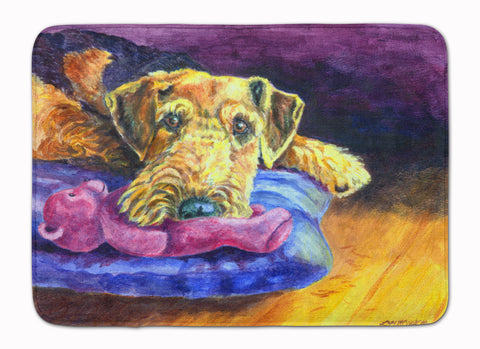 Buy this Airedale Terrier Teddy Bear Machine Washable Memory Foam Mat 7345RUG