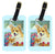 Buy this Pair of 2 Corgi Momma's Love and Roses Luggage Tags