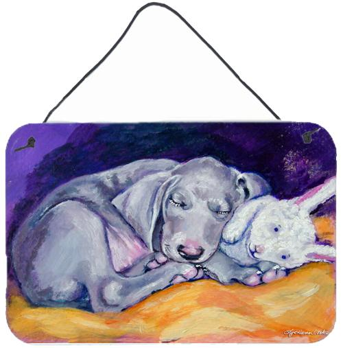 Buy this Weimaraner Snuggle Bunny Wall or Door Hanging Prints 7354DS812