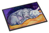 Weimaraner Snuggle Bunny Indoor or Outdoor Mat 18x27 7354MAT - the-store.com
