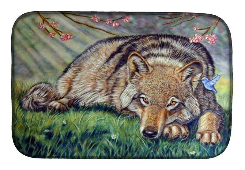 Buy this Wolf and Hummingbird Dish Drying Mat 7356DDM