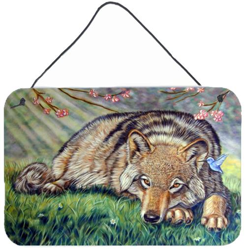 Buy this Wolf and Hummingbird Wall or Door Hanging Prints 7356DS812