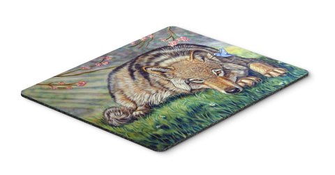 Buy this Wolf and Hummingbird Mouse Pad, Hot Pad or Trivet 7356MP
