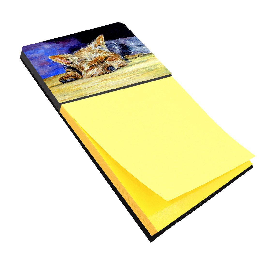 Yorkie Taking a Nap Sticky Note Holder 7357SN by Caroline's Treasures