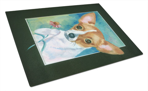 Buy this Chihuahua and Daisy Glass Cutting Board Large 7360LCB