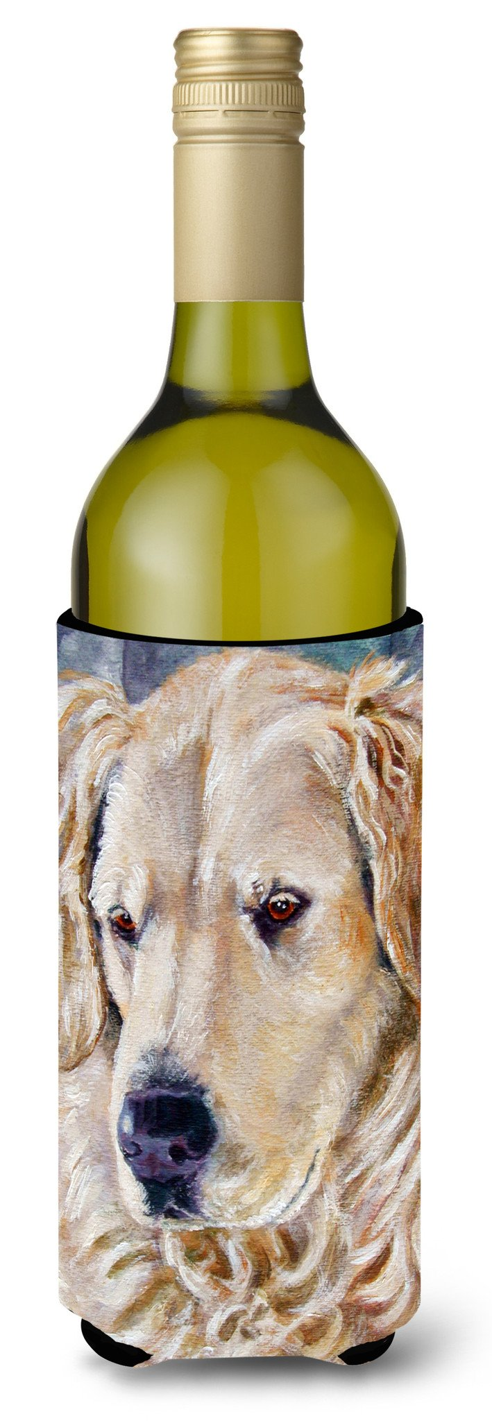 Golden Retriver Contemplation Wine Bottle Beverage Insulator Hugger 7382LITERK by Caroline's Treasures