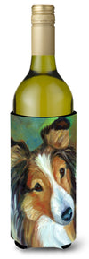 Sheltie Curiosity Wine Bottle Beverage Insulator Hugger 7396LITERK by Caroline's Treasures