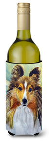 Sheltie Toby Wine Bottle Beverage Insulator Hugger 7397LITERK by Caroline's Treasures