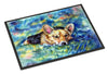 Corgi Tuckered Out Indoor or Outdoor Mat 18x27 7409MAT - the-store.com