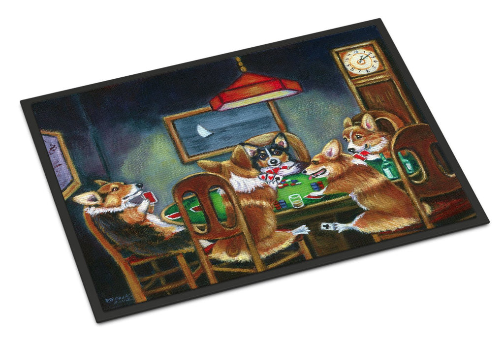 Buy this Corgi Playing Poker Indoor or Outdoor Mat 18x27 7416MAT