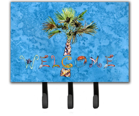 Buy this Welcome Palm Tree on Blue Leash or Key Holder 8708TH68