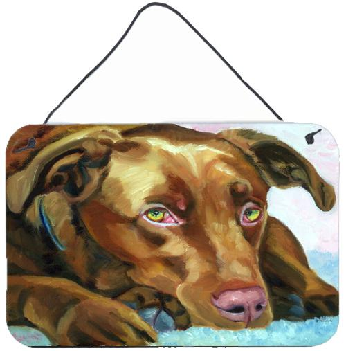Buy this Chocolate Labrador Waiting Wall or Door Hanging Prints 7420DS812