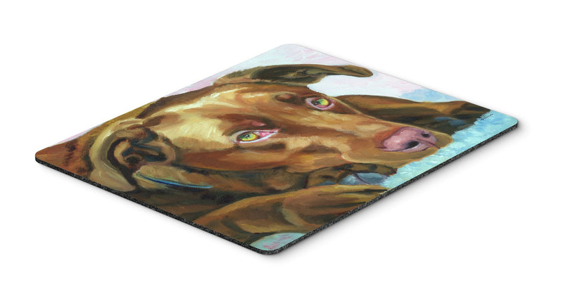 Buy this Chocolate Labrador Waiting Mouse Pad, Hot Pad or Trivet 7420MP